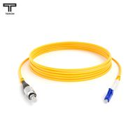 ТЕЛКОМ ШОС-3.0-FC/UPC-LC/UPC-SM-100м-LSZH-YL Шнур оптический simplex FC-LC 9/125 OS2 (G.652.D) одномодовый SM (3.0мм) LSZH, длина 100м
