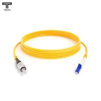 ТЕЛКОМ ШОС-3.0-FC/UPC-LC/UPC-SM-80м-LSZH-YL Шнур оптический simplex FC-LC 9/125 OS2 (G.652.D) одномодовый SM (3.0мм) LSZH, длина 80м