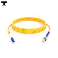 ТЕЛКОМ ШОС-3.0-LC/UPC-ST/UPC-SM-25м-LSZH-YL Шнур оптический simplex LC-ST 9/125 OS2 (G.652.D) одномодовый SM (3.0мм) LSZH, длина 25м