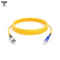 ТЕЛКОМ ШОС-3.0-FC/UPC-SC/UPC-SM-80м-LSZH-YL Шнур оптический simplex FC-SC 9/125 OS2 (G.652.D) одномодовый SM (3.0мм) LSZH, длина 80м