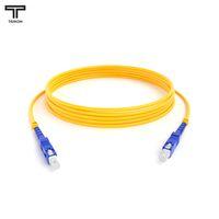 ТЕЛКОМ ШОС-3.0-SC/UPC-SC/UPC-SM-100м-LSZH-YL Шнур оптический simplex SC-SC 9/125 OS2 (G.652.D) одномодовый SM (3.0мм) LSZH, длина 100м