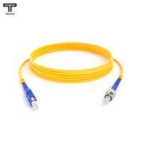 ТЕЛКОМ ШОС-3,0-SC/UPC-ST/UPC-SM-1м-LSZH Шнур оптический simplex SC-ST 9/125 OS2 (G.652.D) одномодовый SM (3.0мм) LSZH, длина 1м