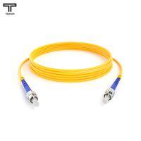 ТЕЛКОМ ШОС-3,0-ST/UPC-ST/UPC-SM-20м-LSZH Шнур оптический simplex ST-ST 9/125 OS2 (G.652.D) одномодовый SM (3.0мм) LSZH, длина 20м