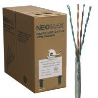 Neomax NM10001 Кабель витая пара UTP (U/UTP) категория 5e (0,486мм), 4 пары, одножильный (solid), серый (бухта 305м)