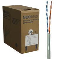 Neomax NM10000 Кабель витая пара UTP (U/UTP), категория 5e, 2 пары, одножильный (solid), серый (бухта 305м)