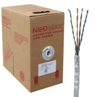 Neomax NM11001 Кабель витая пара UTP (U/UTP), 25 AWG (0,45мм) кат 5e, 4 пары, одножильный (solid), серый (бухта 305м)