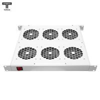 """ТЕЛКОМ ВМ-19-6-Т Вентиляторный 19"""" модуль 1U (6 вентиляторов) с терморегулятором (термостат 0-60°C), c регулируемой глубиной 390-750мм"""