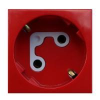 Efapel 45136 SVM Розетка 220В 2к+з, (45х45мм), с механической блокировкой, с ключом, красная