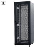 """ТЕЛКОМ ТС-42.6.8-ПП Шкаф 42U 600x800x1987мм (ШхГхВ) телекоммуникационный 19"""" напольный, передняя дверь перфорированная - задняя дверь перфорированная, цвет черный (RAL9005) (5 мест)"""