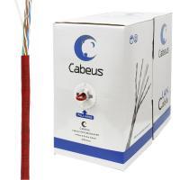 Cabeus UTP-4P-Cat.5e-SOLID-RD Кабель витая пара UTP (U/UTP), категория 5e, 4 пары 0,51мм (24 AWG), одножильный, красный (305 м), системная гарантия 25 лет.