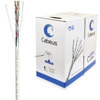 Cabeus FTP-4P-Cat.5e-SOLID-GY Кабель витая пара экранированная FTP (F/UTP), категория 5e, 4 пары 0,51мм (24 AWG), одножильный, экран - фольга (305 м)