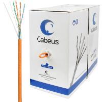 Cabeus FTP-4P-Cat.5e-SOLID-LSZH Кабель витая пара экранированная FTP (F/UTP), категория 5e, 4 пары (24 AWG), одножильный, экран - фольга, LSZH (305 м)