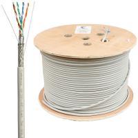 Cabeus SFTP-4P-Cat.5e-SOLID-GY Кабель витая пара экранированная SFTP (SF/UTP), категория 5e, 4 пары 0,51мм (24 AWG), одножильный (305 м)
