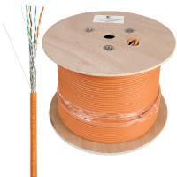 Cabeus STP-4P-Cat.6a-SOLID-IN-LSZH Кабель витая пара экранированная STP (U/FTP), категория 6a (10GBE), 4 пары, (23 AWG), одножильный (solid), каждая пара в экране (фольга), LSZH, нг(А)-HF, (305 м)