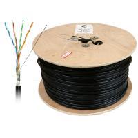 Cabeus FTP-4P-Cat.5e-SOLID-OUT-LSZH-UV Кабель витая пара экранированная FTP (F/UTP), категория 5e, 4 пары (24 AWG), одножильный, экран - фольга, для внешней прокладки (+75 C - -40 C), LSZH-UV (305 м)