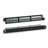 """Cabeus PLHD-48-Cat.6-Dual IDC-1U Патч-панель высокой плотности 19"""", 1U, 48 портов RJ-45, категория 6, Dual IDC"""
