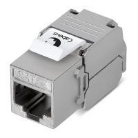 Cabeus KJ-RJ45-Cat.5e-SH-180-Toolless Вставка Keystone Jack RJ-45(8P8C), 180 градусов, категория 5e, экранированная, без инструмента Toolless