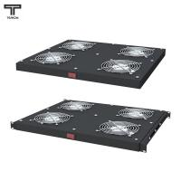ТЕЛКОМ ВМ-К-19-4-Т.9005 Модуль 4-х вентиляторный с термостатом 0-60°C монтаж в крышу или в 19-дюймовую стойку (универсальный) (чёрный RAL9005)