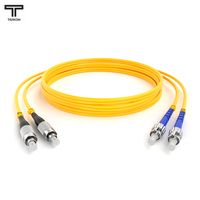 ТЕЛКОМ ШОС-2x3,0-2FC/UPC-2ST/UPC-SM-0.5м-LSZH Шнур оптический duplex FC-ST 9/125 OS2 (G.652.D) одномодовый SM (3.0мм) LSZH длина 0,5м