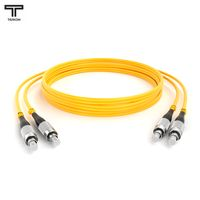ТЕЛКОМ ШОС-2x3,0-2FC/UPC-2FC/UPC-SM-7м-LSZH Шнур оптический duplex FC-FC 9/125 OS2 (G.652.D) одномодовый SM (3.0мм) LSZH, длина 7м