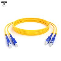 ТЕЛКОМ ШОС-2x3.0-2SC/UPC-2SC/UPC-SM-80м-LSZH-YL Шнур оптический duplex SC-SC 9/125 OS2 (G.652.D) одномодовый SM (3.0мм) LSZH длина 80м