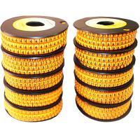 Маркеры для кабеля D3.6-7.4 мм, в руллонах 10х500шт (цифры 0,1,2,3,4,5,6,7,8,9) желтые