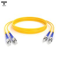 ТЕЛКОМ ШОС-2x3,0-2ST/UPC-2ST/UPC-SM-1м-LSZH Шнур оптический duplex ST-ST 9/125 OS2 (G.652.D) одномодовый SM (3.0мм) LSZH длина 1м