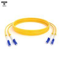 ТЕЛКОМ ШОС-2x3.0-2LC/UPC-2LC/UPC-SM-80м-LSZH-YL Шнур оптический duplex LC-LC 9/125 OS2 (G.652.D) одномодовый SM (3.0мм) LSZH длина 80м