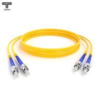 ТЕЛКОМ ШОС-2x3.0-2ST/UPC-2ST/UPC-SM-15м-LSZH-YL Шнур оптический duplex ST-ST 9/125 OS2 (G.652.D) одномодовый SM (3.0мм) LSZH длина 15м