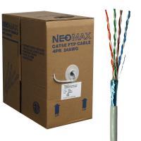 Neomax NM20611 Кабель витая пара FTP (F/UTP) экранированная, категория 6, 4 пары 0,57мм (23 AWG), одножильный, LSZH (Low Smoke Zero Halogen), (бухта 305м)