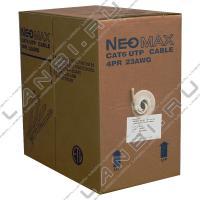 Neomax NM10611 Кабель витая пара UTP (U/UTP), категория 6, 4 пары 0,57мм (23 AWG), одножильный, LSZH (Low Smoke Zero Halogen), (бухта 305 м)