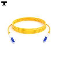 ТЕЛКОМ ШОС-3.0-LC/UPC-LC/UPC-SM-3м-LSZH-YL Шнур оптический simplex LC-LC 9/125 OS2 (G.652.D) одномодовый SM (3.0мм) LSZH, длина 3м