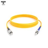 ТЕЛКОМ ШОС-3.0-FC/UPC-ST/UPC-SM-1м-LSZH-YL Шнур оптический simplex FC-ST 9/125 OS2 (G.652.D) одномодовый SM (3.0мм) LSZH, длина 1м