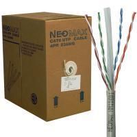 Neomax NM10601 Кабель витая пара UTP (U/UTP), категория 6, 4 пары, одножильный (solid), серый (бухта 305м)