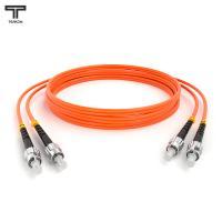 ТЕЛКОМ ШОС-2х3,0-2ST/UPC-2ST/UPC-MM50-1.5м-LSZH Шнур оптический duplex ST-ST 50/125 OM2 многомодовый MM (3.0мм) LSZH, длина 1,5м