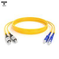 ТЕЛКОМ ШОС-2x3.0-2FC/UPC-2SC/UPC-SM-120м-LSZH-YL Шнур оптический duplex FC-SC 9/125 OS2 (G.652.D) одномодовый SM (3.0мм) LSZH длина 120м