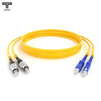 ТЕЛКОМ ШОС-2x3.0-2FC/UPC-2SC/UPC-SM-60м-LSZH-YL Шнур оптический duplex FC-SC 9/125 OS2 (G.652.D) одномодовый SM (3.0мм) LSZH длина 60м