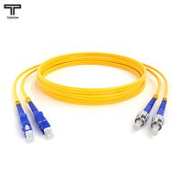 ТЕЛКОМ ШОС-2x3,0-2SC/UPC-2ST/UPC-SM-100м-LSZH Шнур оптический duplex SC-ST 9/125 OS2 (G.652.D) одномодовый SM (3.0мм) LSZH длина 100м