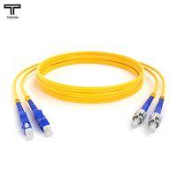 ТЕЛКОМ ШОС-2x3.0-2SC/UPC-2ST/UPC-SM-60м-LSZH-YL Шнур оптический duplex SC-ST 9/125 OS2 (G.652.D) одномодовый SM (3.0мм) LSZH длина 60м