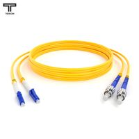 ТЕЛКОМ ШОС-2x3,0-2LC/UPC-2ST/UPC-SM-30м-LSZH Шнур оптический duplex LC-ST 9/125 OS2 (G.652.D) одномодовый SM (3.0мм) LSZH длина 30м