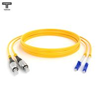 ТЕЛКОМ ШОС-2x3.0-2FC/UPC-2LC/UPC-SM-20м-LSZH-YL Шнур оптический duplex FC-LC 9/125 OS2 (G.652.D) одномодовый SM (3.0мм) LSZH, длина 20м