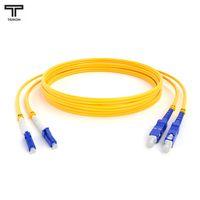 ТЕЛКОМ ШОС-2x3.0-2LC/UPC-2SC/UPC-SM-10м-LSZH-YL Шнур оптический duplex LC-SC 9/125 OS2 (G.652.D) одномодовый SM (3.0мм) LSZH длина 10м