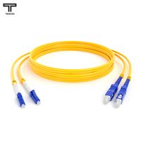 ТЕЛКОМ ШОС-2x3,0-2LC/UPC-2SC/UPC-SM-5м-LSZH Шнур оптический duplex LC-SC 9/125 OS2 (G.652.D) одномодовый SM (3.0мм) LSZH длина 5м