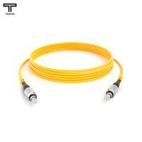 ТЕЛКОМ ШОС-3.0-FC/UPC-FC/UPC-SM-80м-LSZH-YL Шнур оптический simplex FC-FC 9/125 OS2 (G.652.D) одномодовый SM (3.0мм) LSZH, длина 80м