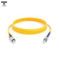 ТЕЛКОМ ШОС-3.0-FC/UPC-ST/UPC-SM-50м-LSZH-YL Шнур оптический simplex FC-ST 9/125 OS2 (G.652.D) одномодовый SM (3.0мм) LSZH, длина 50м